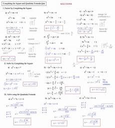math plane completing the square quadratic formula