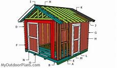 12x12 house plans 12x12 gable shed roof plans myoutdoorplans free