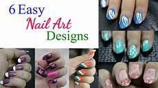 6 easy nail art designs for beginners nail art tutorial