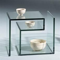 Janus 1 Kleiner Glas Beistelltisch Dreieck Design