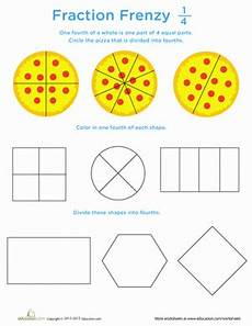 fraction frenzy 1 4 worksheet education com