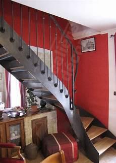 re escalier bois et fer forgé escalier fer et bois photo dt98 esca droit 174 1 4