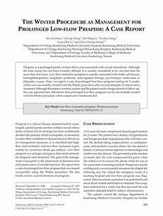 pdf the winter procedure as management for prolonged low
