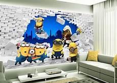 papier peint tapisserie 3d chambre enfant les minions