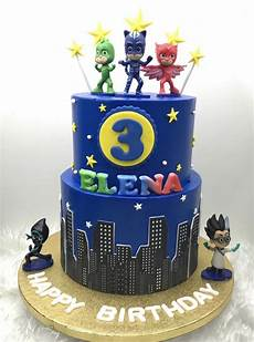 cake authentic pj masks collectible figurine set white
