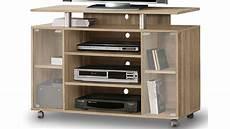 tv schrank rtv rack tv board in sonoma eiche auf rollen