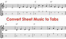 guitar tab program how to convert sheet to tabs