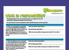 what is responsibility character education worksheet character education character education