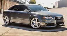 audi rs4 b7 wearing 20 quot brushed aluminum wheels carscoops