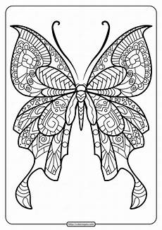 printable butterfly mandala pdf coloring pages 44