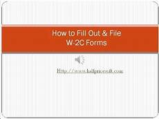 how to fill out and file w2c form youtube