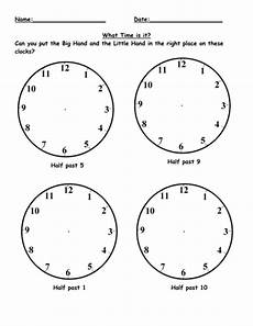 half past time worksheets for grade 1 3568 time by danni n 84 teaching resources tes