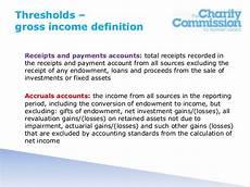 charity reporting regulations