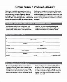 free 11 sle durable power of attorney forms in pdf ms word