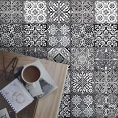küche fliesen überkleben fliesenaufkleber set f 252 r k 252 che bad design black n