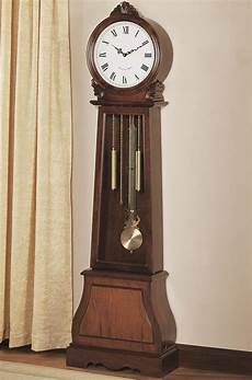 coaster grandfather clocks 900723 brown traditional