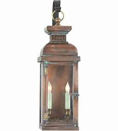 visual comfort cho2064nc e f chapman suffork 2 light 22 inch natural copper outdoor wall lantern