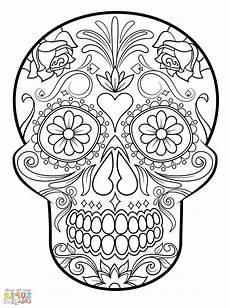 coloring astonishing sugar skullg skulls pages book j3kp