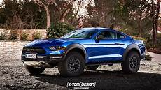 this rendering of a ford mustang raptor has fast and