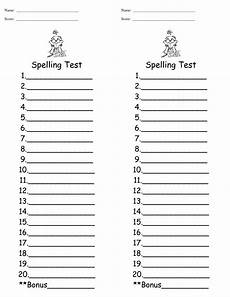 blank spelling worksheets for grade 1 22688 spelling test template cyberuse