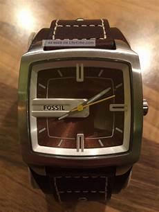 fossil herren armbanduhr leder braun trend jr9990