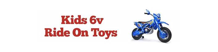 6v Ride On Toys  Electric Gifts For Kids
