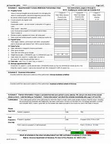 form 165 arizona partnership income tax return