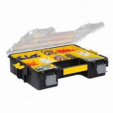 boite de rangement vis malette plastique stanley l 44 5 x h 10 5 x p 36 cm