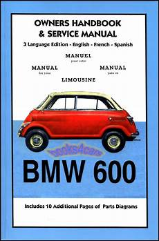 bmw 600 limousine owners manual hand book shop service repair manual 1957 1959 ebay