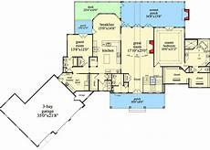 4 bedroom ranch house plans with walkout basement mountain ranch with walkout basement 29876rl