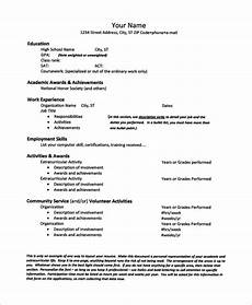 free 10 sle high school cv templates in ms word pdf