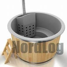 nordlog tub glasfaser badefass mit ofen badezuber
