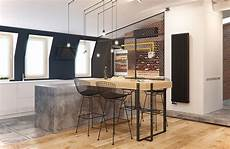 bar en béton ciré a 2 bedroom flat in kiev with sleek contemporary features
