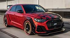 audi a1 sportback unleashes its inner beast with abt s 394 hp quot 1 of 1 quot build carscoops
