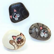 Cat Painted Rock Tdf