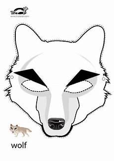 Malvorlagen Wolf Craft Wolf Mask Masken Kinder Tiermasken Malvorlagen Tiere