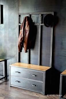 banc vestiaire en bois et m 233 tal meuble d entr 233 e de