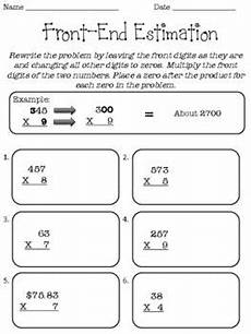 front end estimation addition worksheets 8172 front end estimation 5th grade math fourth grade pay teachers