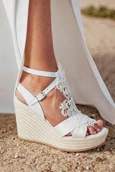 Wedding White Wedge Shoes