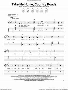 denver take me home country roads for guitar solo easy tablature interactive sheet music