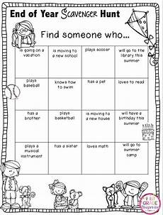 1st grade grapevine end of year scavenger hunt my