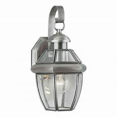 forte lighting burton 1 light outdoor pewter wall lantern sconce 1101 01 34 the home depot