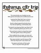 Fall Kids Poems To Print  Autumn Car Trip