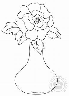 flower in vase coloring page flowers templates