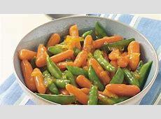 orange  or lemon glazed snap peas and carrots_image