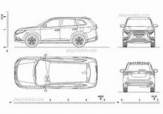 Mitsubishi Outlander Abmessungen - mitsubishi outlander 2017 cad drawings cars