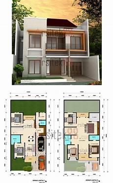 15 Denah Sketsa Rumah Minimalis Dengan Desain Modern Oliswel
