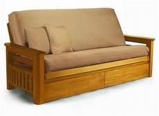 futon frame arizona medium oak futon frame by lifestyle
