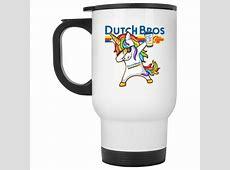 Dutch Bros   Unicorn Dabbing Coffee, Travel Mugs