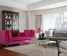 pink and gray living room transitional living room